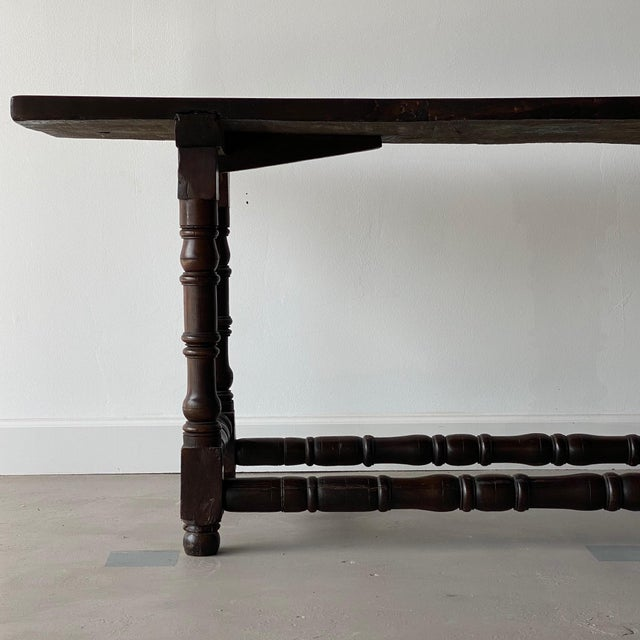 19th Century Extended Dark Italian Console For Sale In West Palm - Image 6 of 9