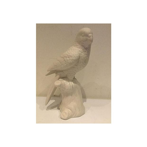 White Porcelain Parrot Figurine - Image 4 of 4