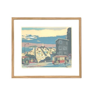 Telegraph Hill, San Francisco Serigraph / Silk Screen Print For Sale