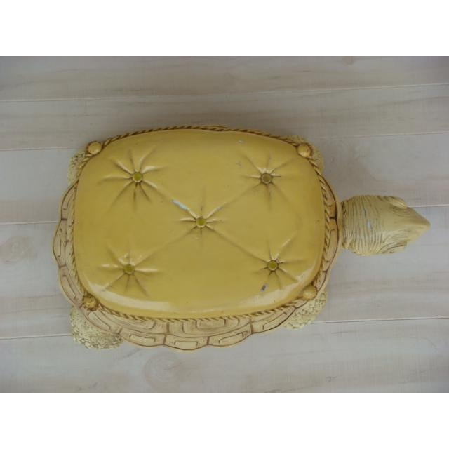 Mid-Century Turtle Form Garden Stool Bench Ottoman For Sale In Tampa - Image 6 of 13