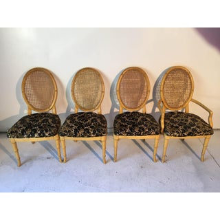 Vintage Faux-Bamboo Dining Chairs - Set of 4 Preview