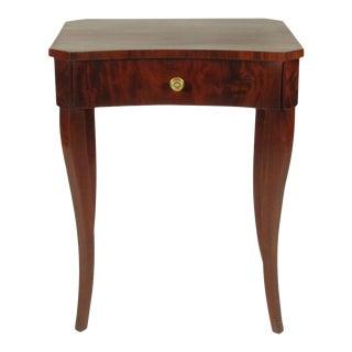 19th-C. Biedermeier Mahogany Side Table For Sale
