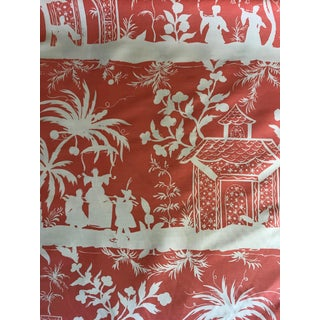 Chinoiserie Quadrille Lyford Linen Fabric - 3 Yards For Sale