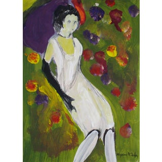 Circa 1950s- 1960s Bay Area Figurative Painting of Woman For Sale