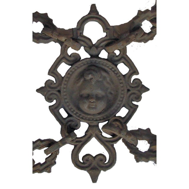 Victorian 19th C. French Iron Garden Decorative Accent / Fence Panel For Sale - Image 3 of 5