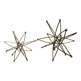 Arteriors Home Muted Gold Sculptures - A Pair For Sale