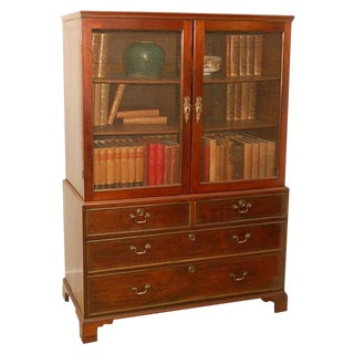 Early 19th Century English Traditional Mahogany Bookcase For Sale