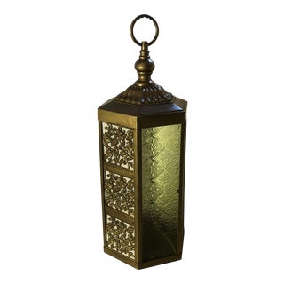 Boho Chic MCM Brass Lamp For Sale