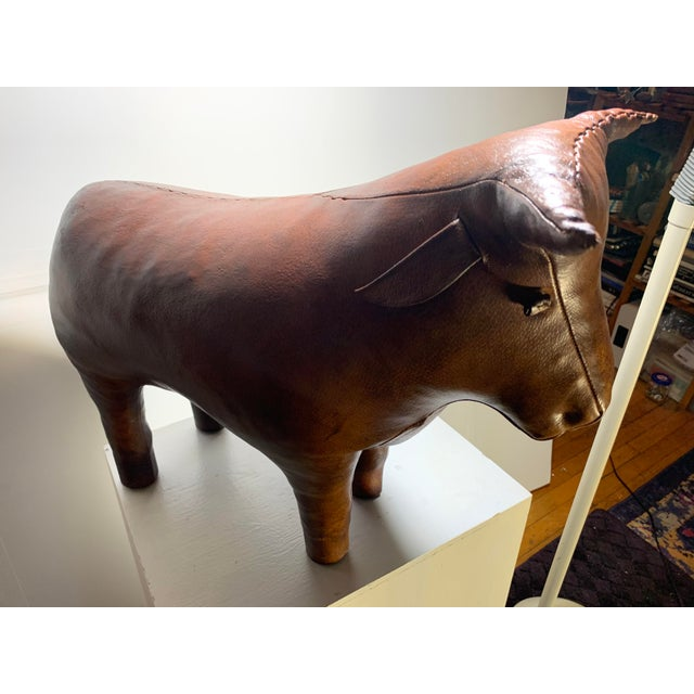 1960s Vintage Dimitri Omersa for Abercrombie and Fitch Bull Footstool For Sale - Image 12 of 13