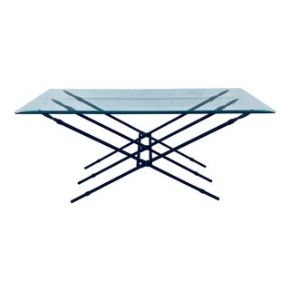Modern Bronzed Metal Spear Low Console Table For Sale