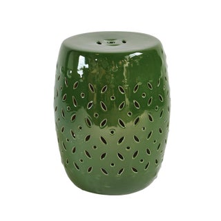 Emerald Green Ceramic Garden Stool For Sale