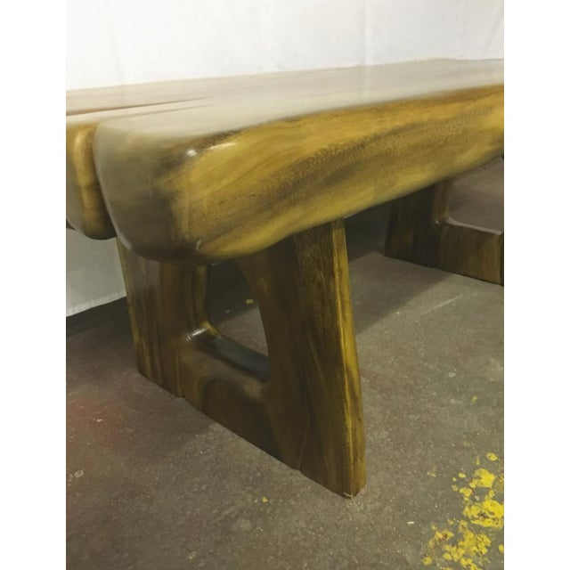 Sturdy solid wood coffee table.