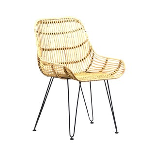 Bent Rattan Dining Chair For Sale