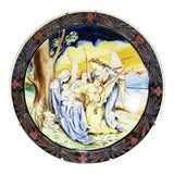 Image of 19th Century Italian Faience Charger For Sale