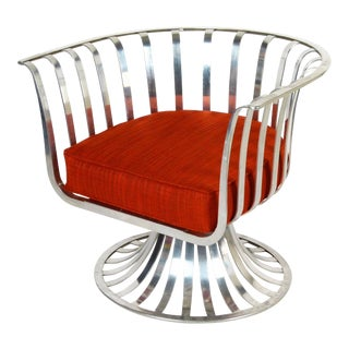 Mid Century Modern Russell Woodard Aluminum Lounge Chair For Sale