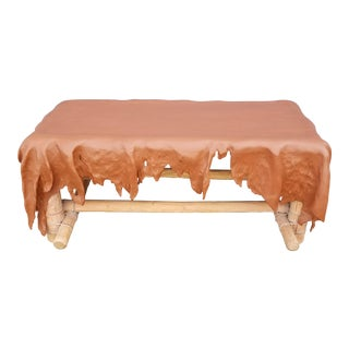 Southwest Style Wood Draped Bench For Sale
