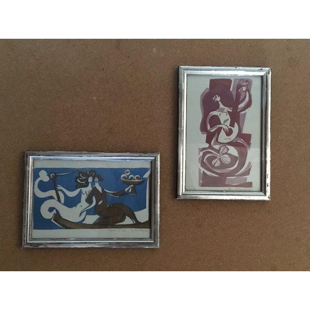 Vintage Mermaid Art - Pair - Image 2 of 7