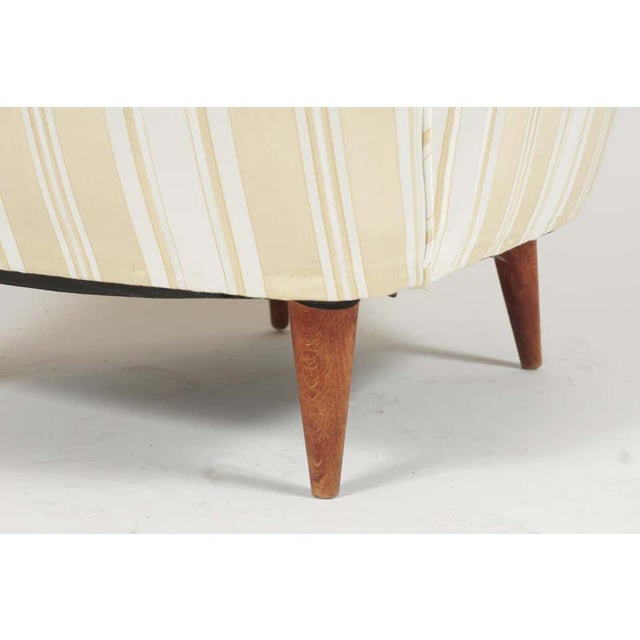 Sculptural Pair of 1950s Midcentury Italian Paolo Buffa Attr. Arm Lounge Chairs For Sale - Image 9 of 11