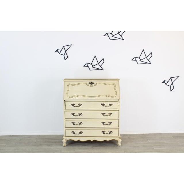 Traditional Secretary Desk, Cream Secretary Desk For Sale - Image 12 of 12