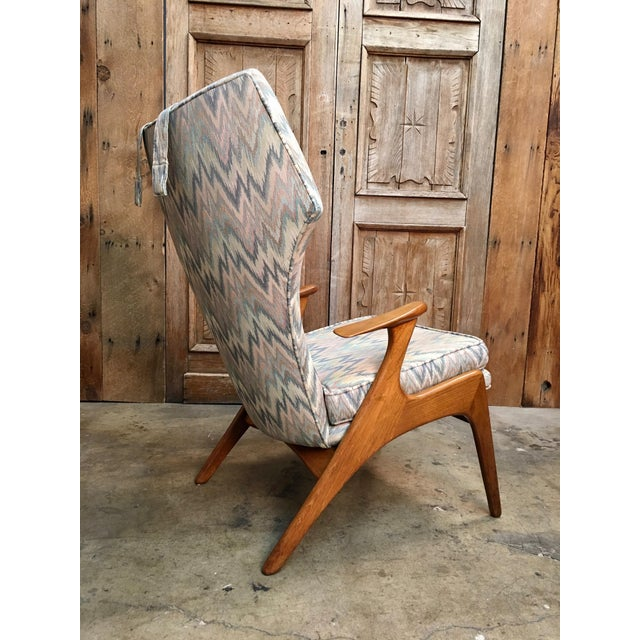 Mid 20th Century Vintage Mid Century Kurt Ostervig High Back Lounge Chair For Sale - Image 5 of 13