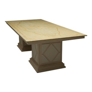 Custom Italian Faux Painted Dining Table For Sale