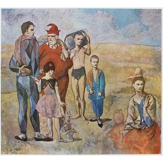 """1971 Pablo Picasso, """"Les Bateleurs"""" Parisian Period Photogravure For Sale"""