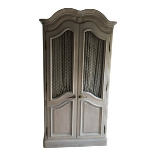 John Stuart French Art Deco Gray Wood Armoire For Sale