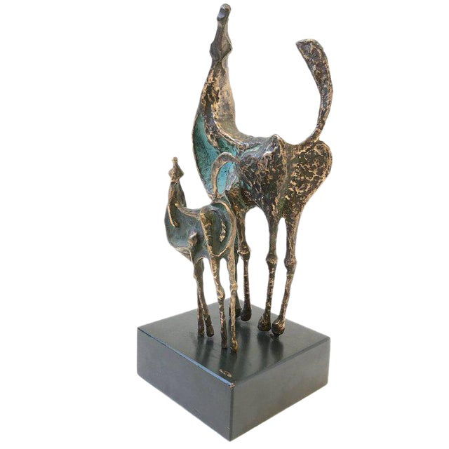 Bronze Horses Sculpture by Curtis Jere For Sale