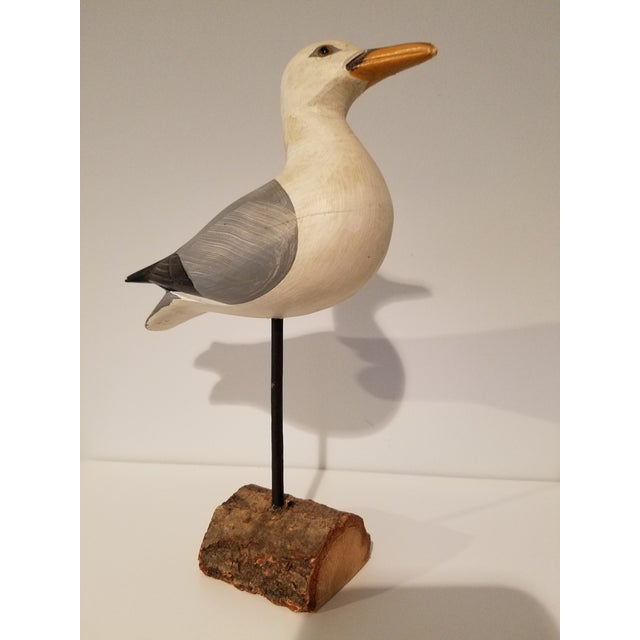 2000 - 2009 Carved Painted Seagull Figure For Sale - Image 5 of 7