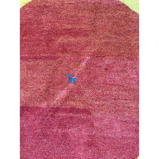 "Textile Vintage Wool Safavieh Rug - 4'11"" x 4'11"" For Sale - Image 7 of 7"