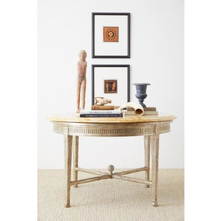 Neoclassical Style Silver Gilt Marble-Top Center Table Preview
