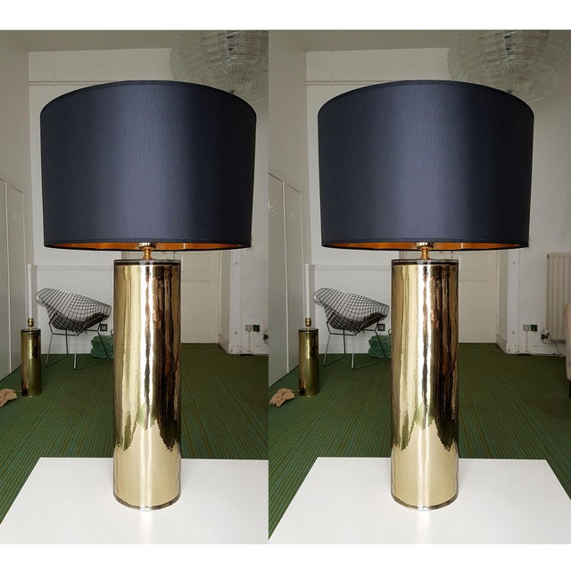 Gold Murano Glass Table Lamps, Mid Century Modern, Cenedese Style - a Pair For Sale - Image 10 of 10