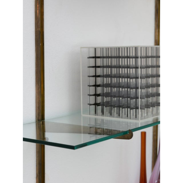 Italian 50s Brass Bookcase For Sale - Image 6 of 9