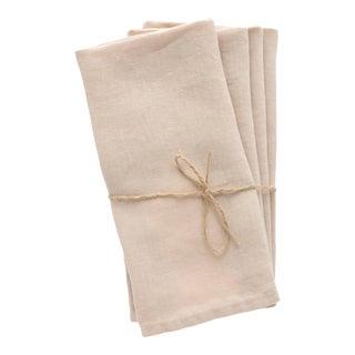 Sable Linen Napkins - Set of 4 For Sale