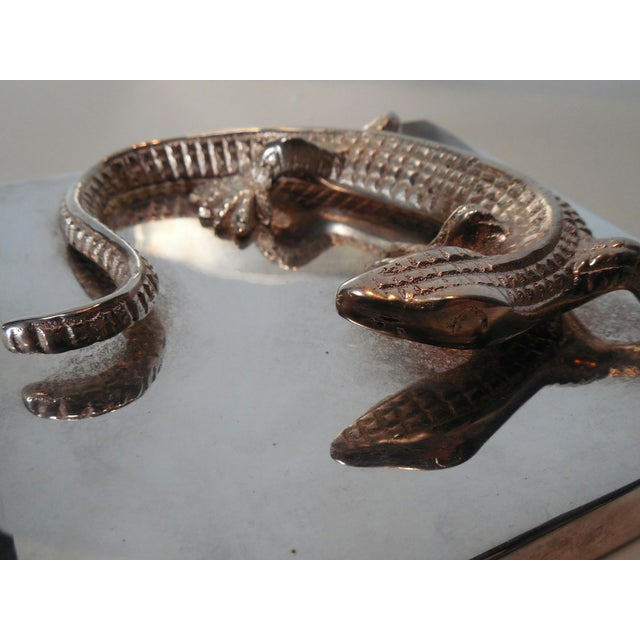 Silvered Metal Lizard Box - Image 6 of 6