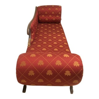 Vintage Regency Long Red Upholstered Seat