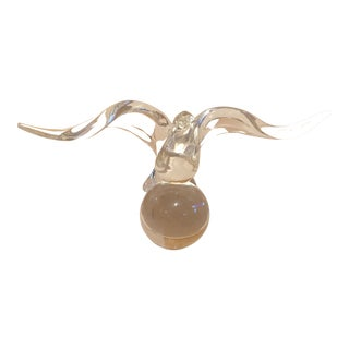 Vintage Steuben Crystal LLoyd Atkins' Water Bird Figure For Sale