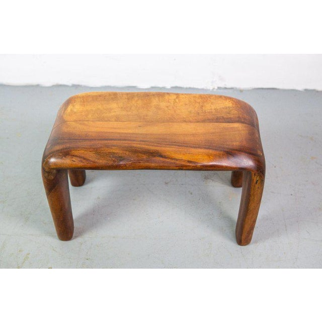Handcrafted studio stool or bench by Mexican Mid-Century Modernist Don Shoemaker.