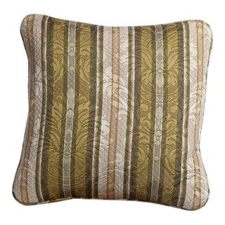 Vintage Matelaise Damask Textile Pillow For Sale
