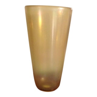 Vintage Formia Murano Oversized Vase 14 3/4 Tall For Sale