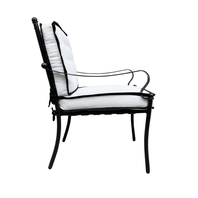 Set of Four Mid-20th Century American Iron Patio Chairs For Sale - Image 4 of 13