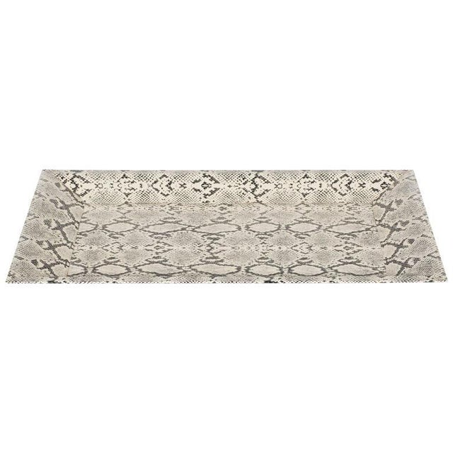 Modernist Rectangular Shadow Box Design Faux Python Tray For Sale - Image 9 of 9