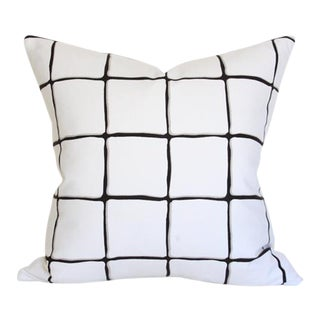 """Painted Check Ink Pillow Cover 17"""""""