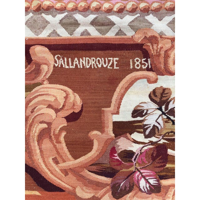 1851 Handwoven Antique Sallandrouze Aubusson Rug, Exceptional Condition & Signed For Sale - Image 6 of 9
