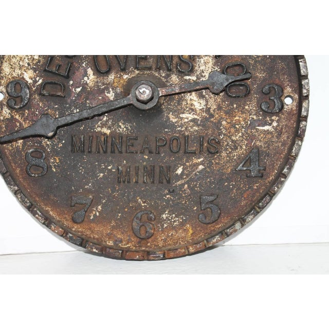 Late 19th Century Despatch Oven Co., Minneapolis, Minnesota Advertising Clock Face For Sale - Image 5 of 6