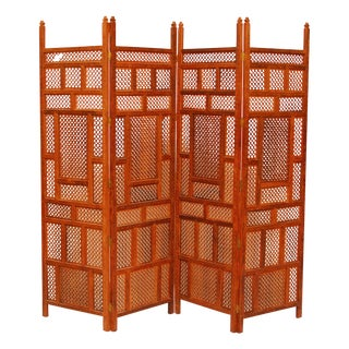 Large Carved Indian Wood Screen