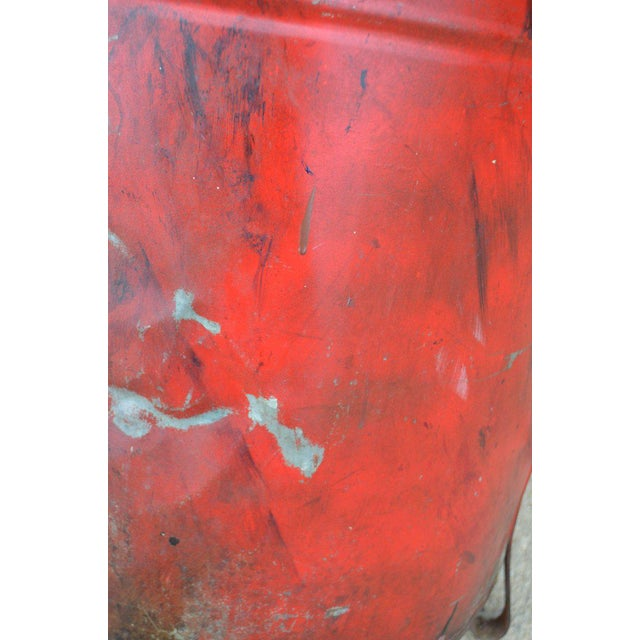Industrial Rag Bin with Hinged Lid - Image 9 of 10