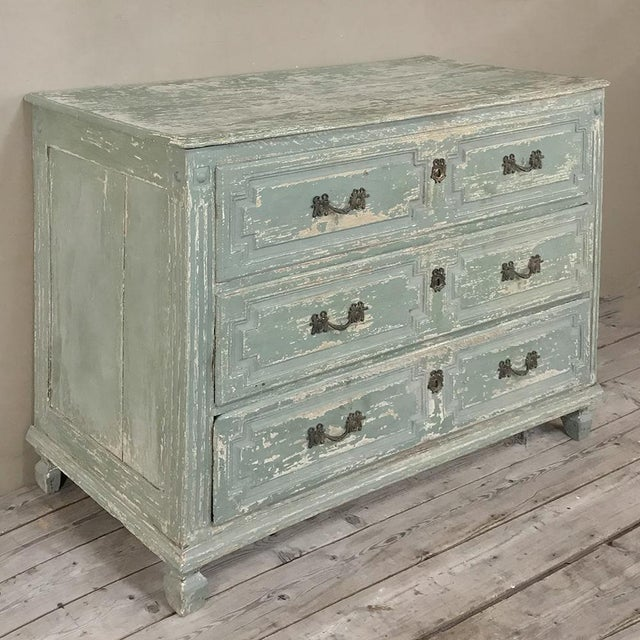 Country 18th Century Country French Painted Commode For Sale - Image 3 of 13