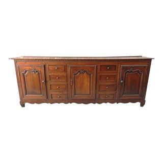 Late 18th C French Oak Enfilade Sideboard