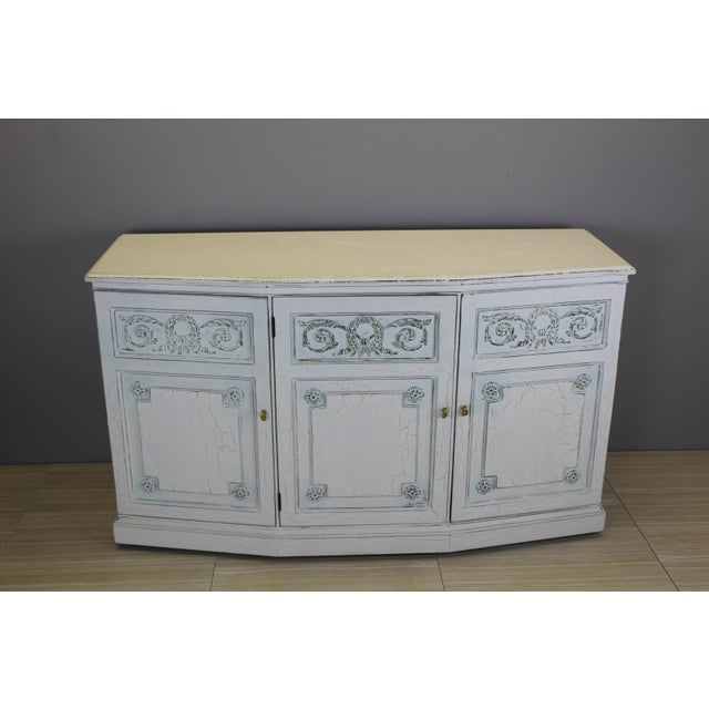 White Henredon Mid-Century Neoclassical Style Cabinet For Sale - Image 8 of 11